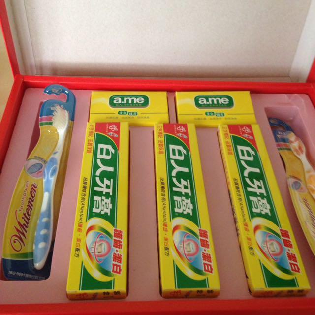白人牙膏禮盒
