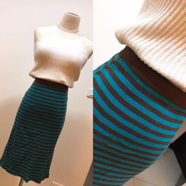 正韓條紋包裙