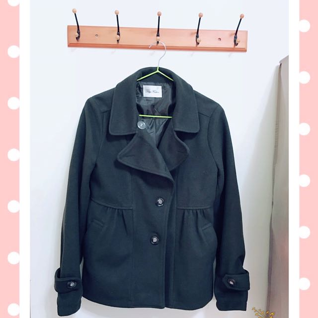 東京著衣墨綠大衣(全新)