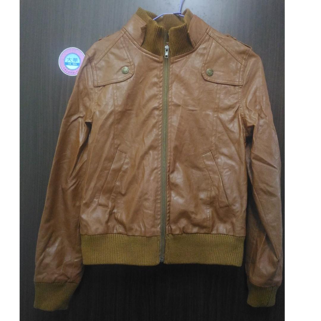 【可交換】褐色皮衣外套 #轉轉來交換