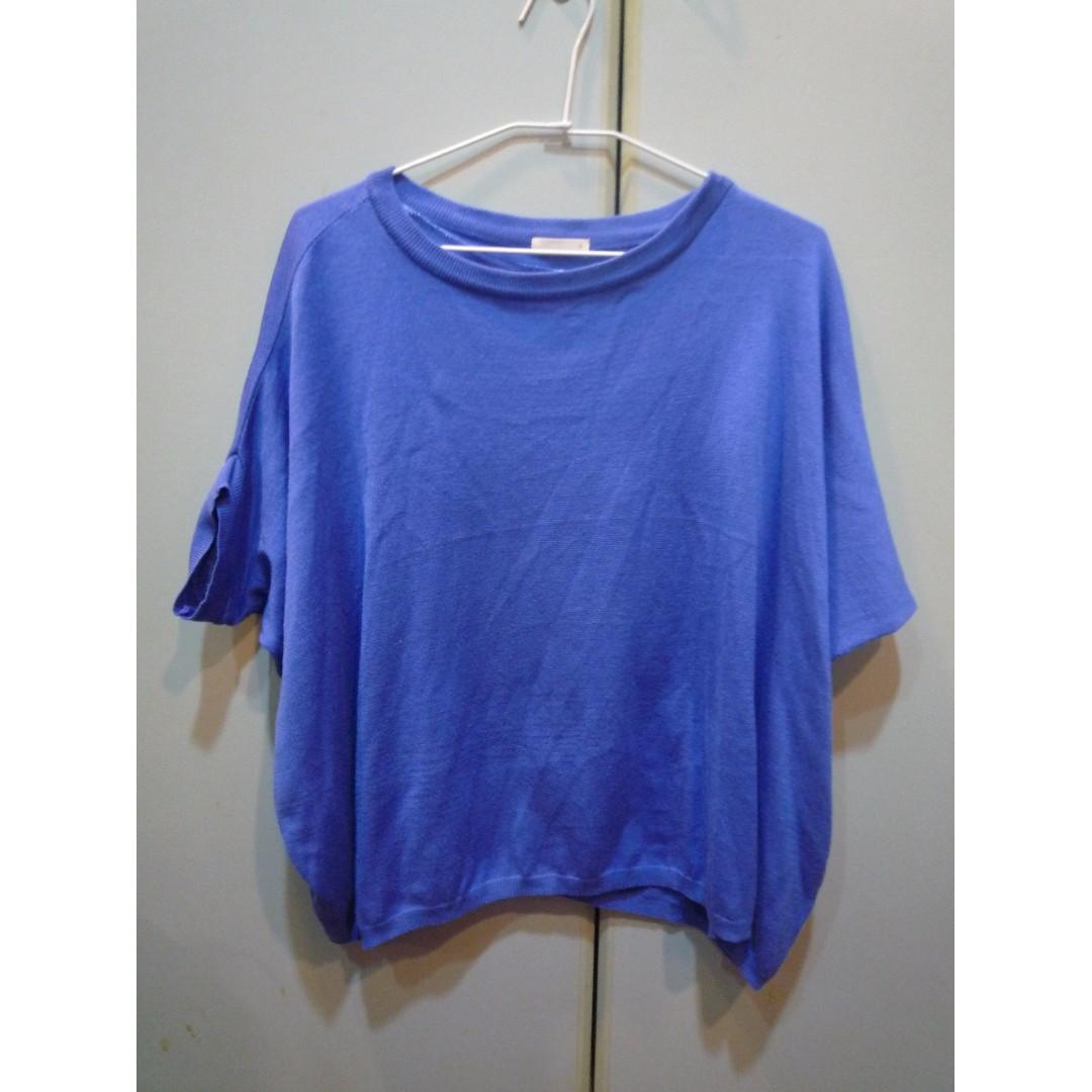 (歡迎換物)日系藍色寬衣