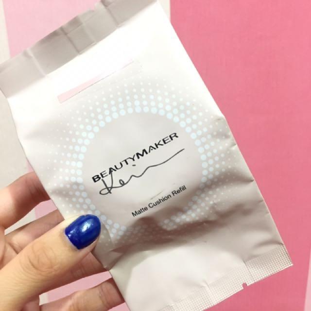 正貨 BEAUTYMAKER 零油光晶漾持妝補充氣墊粉餅 自然色