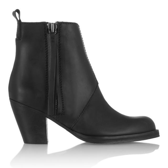 Acne Studios Pistol short black Ankle Boots