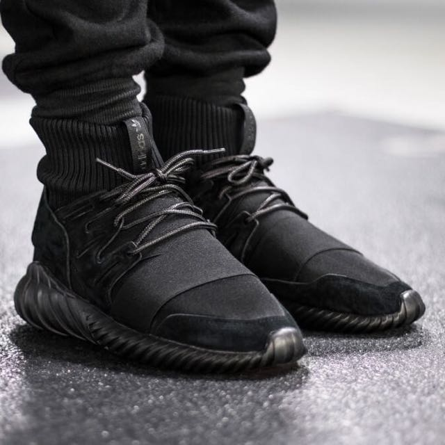 best sneakers 43ca7 92cb1 Adidas Tubular Doom Primeknit Triple Black, Men's Fashion ...