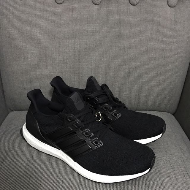b3902ac76aa Adidas Ultra Boost 3.0 Black Leather Cage