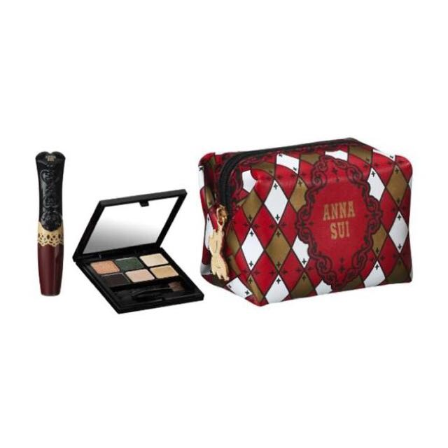 Anna Sui holiday Collection (pouch, Eye Shadow Palette And Lip Gloss