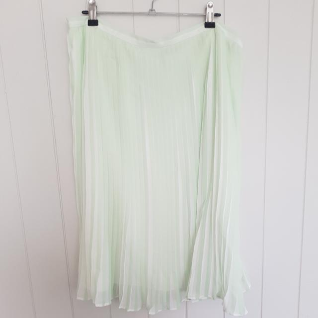 **payment pending** Asos Curve Mint Green And White Stripe Pleated Skirt Size 20 BNWT