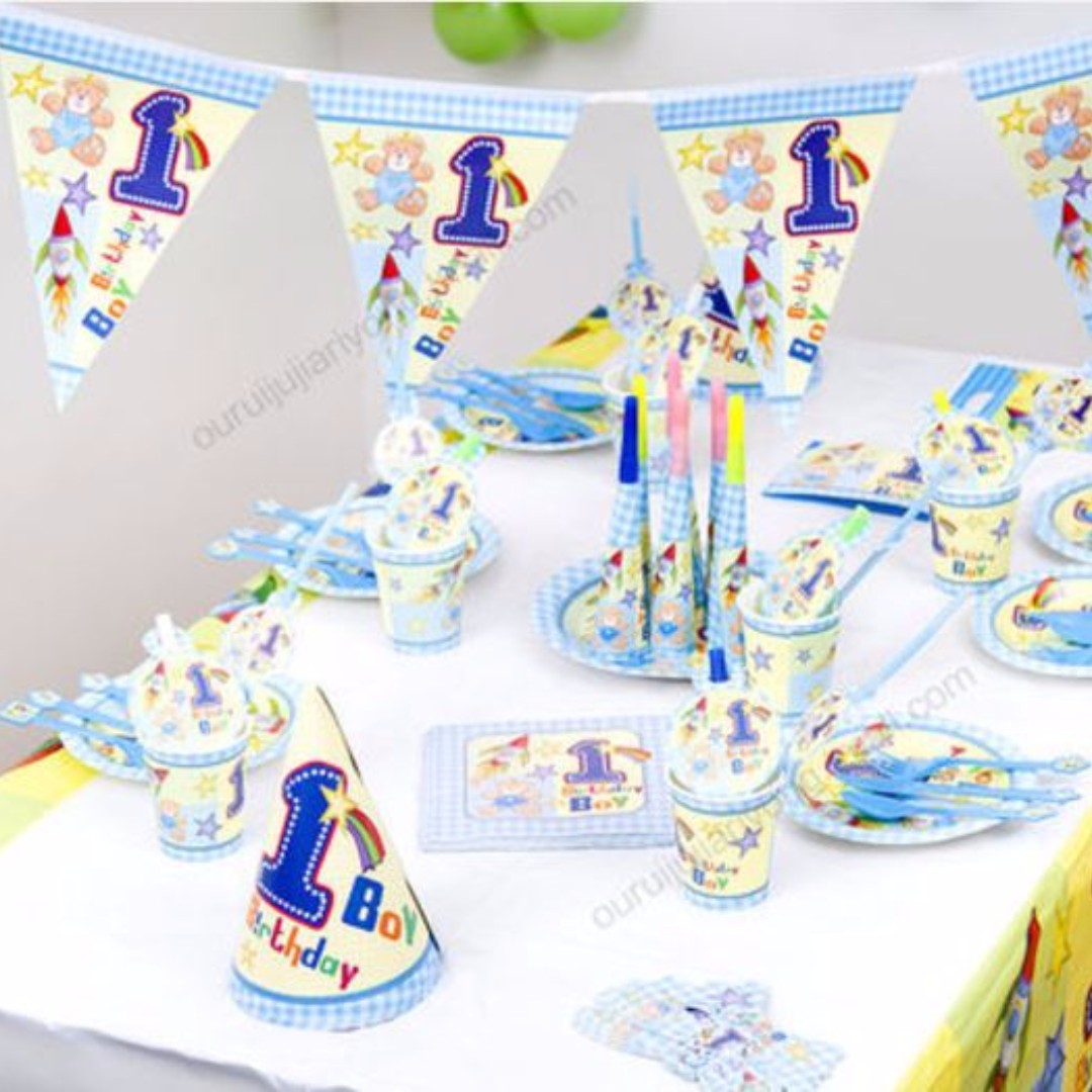 Baby Boy 1st Birthday Party Theme Set Babies Kids On Carousell