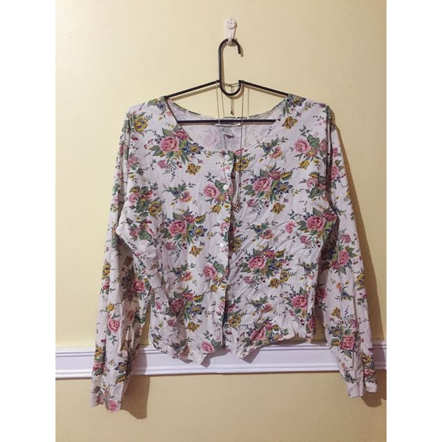 BANANA REPUBLIC Floral button-down/blazer