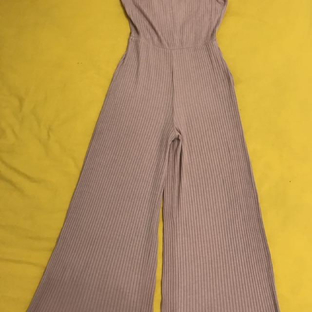 Bershka Pink Soft Jumpsuit