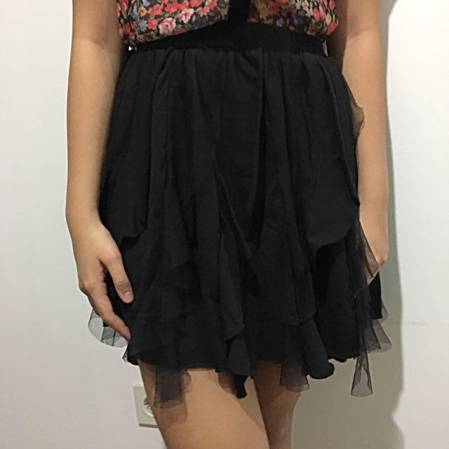 Black Tutu Skirt Mini (Rok hitam)
