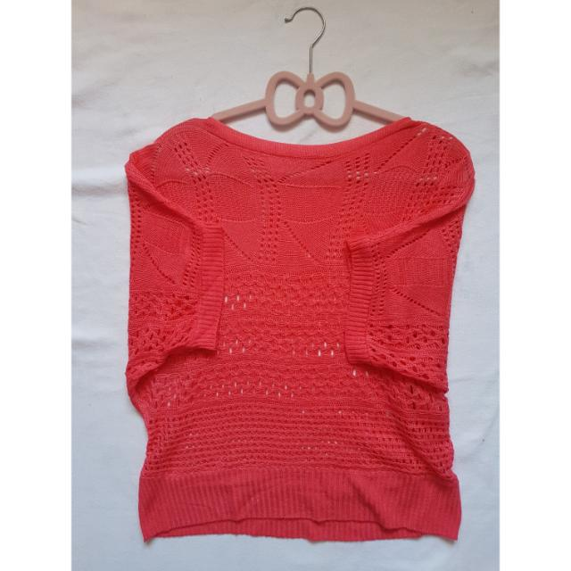 Bright Red Knit Top