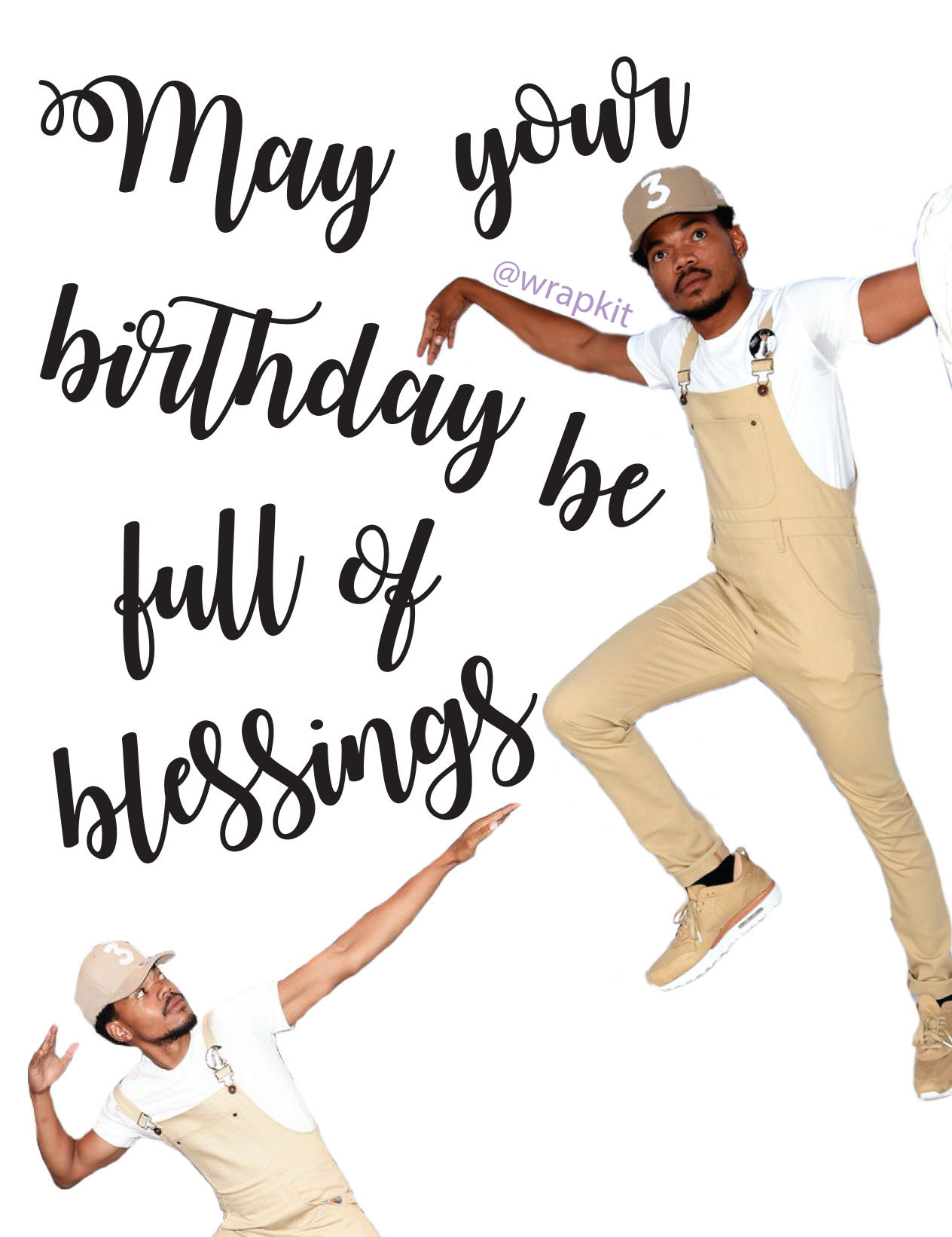 Chance The Rapper Blessings Birthday Card