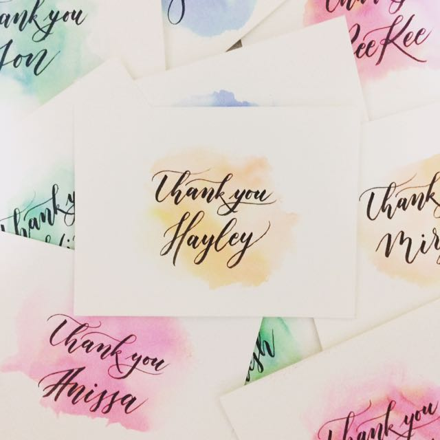 Watercolour calligraphy card design craft art prints