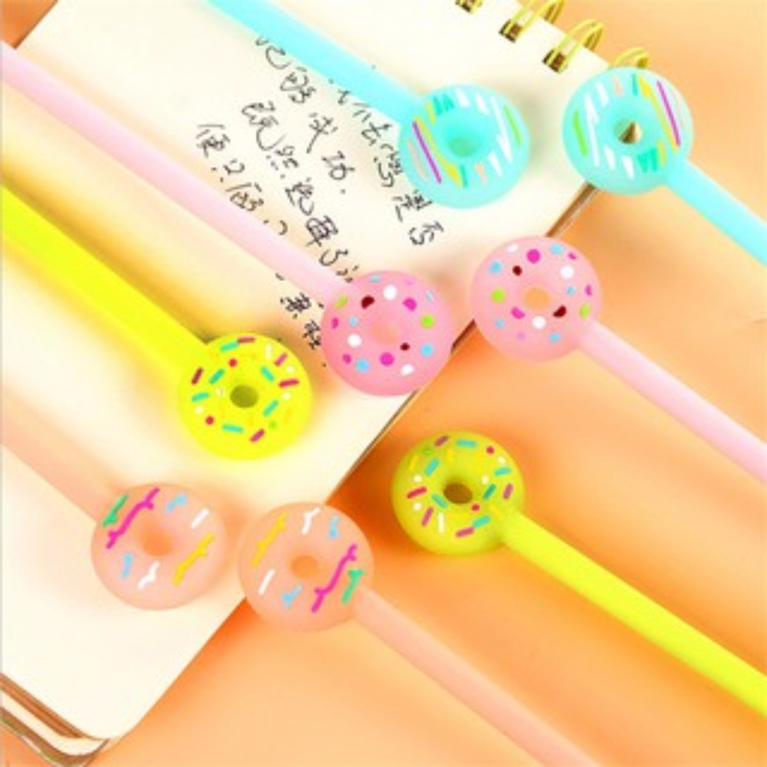 DONUTS GEL PEN CUTE CANDY COLOR PEN / PULPEN GEL