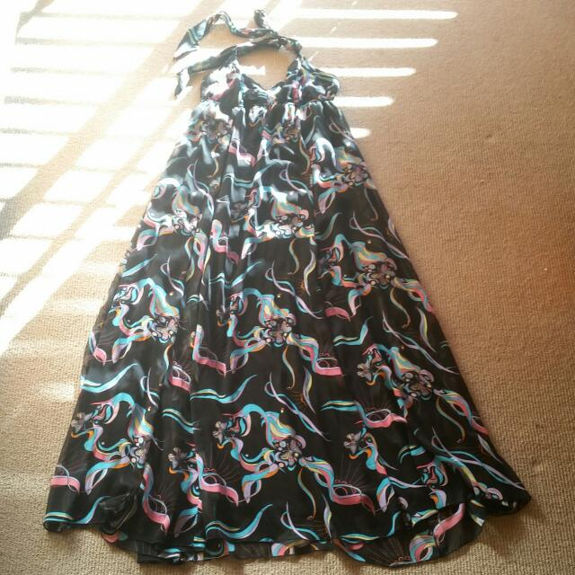 Maxi Halter neck Butterfly Floral Print