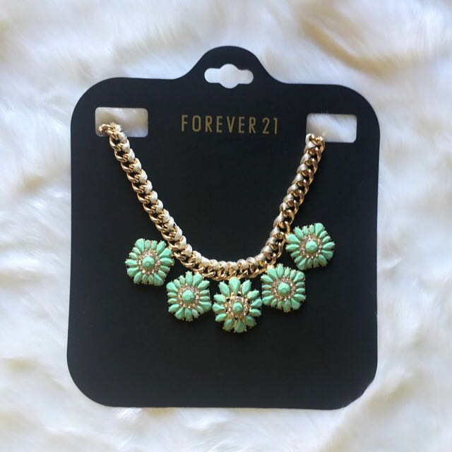 [BRAND-NEW] F21 Mint/Gold Necklace