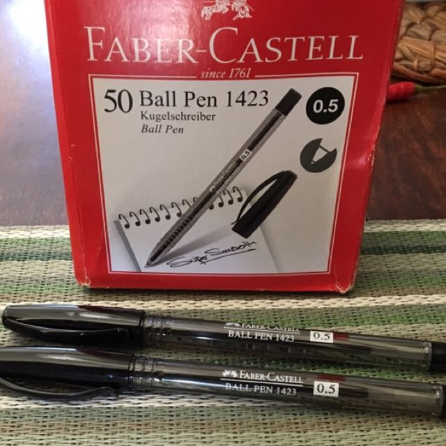 Faber-Castell Black Ball pen, 50 Pcs