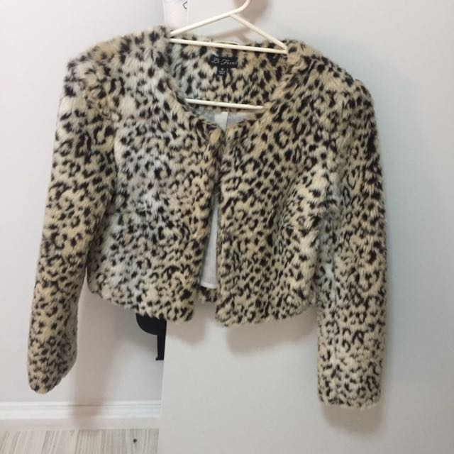 faux fur cheetah print