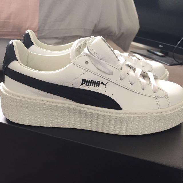 Fenty Creepers White & Black Size 6