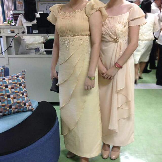 Filipiniana Dress FOR RENT, Women\'s Fashion, Clothes, Dresses ...