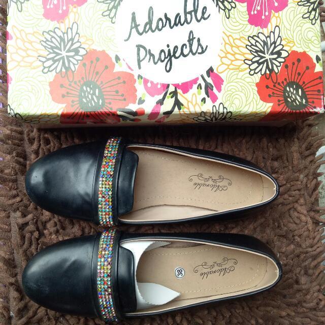 Flat Shoes Black Adorable Project