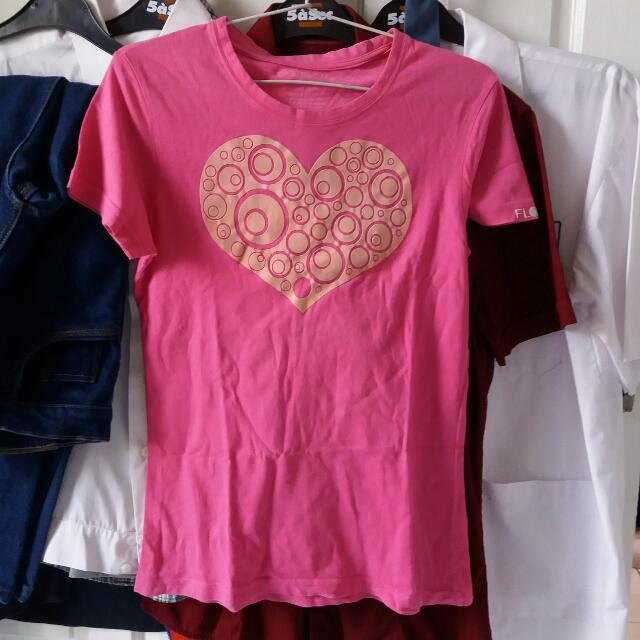 Flock Heart Tee Shirt (Kaos)