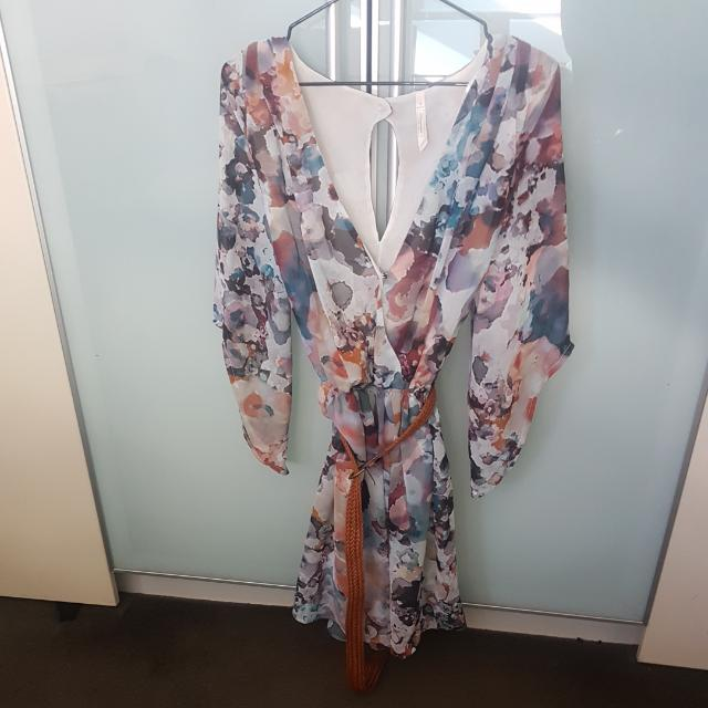 Floral Hot Dress Sz 8