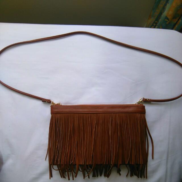 Forever New - Tan Fringe Bag