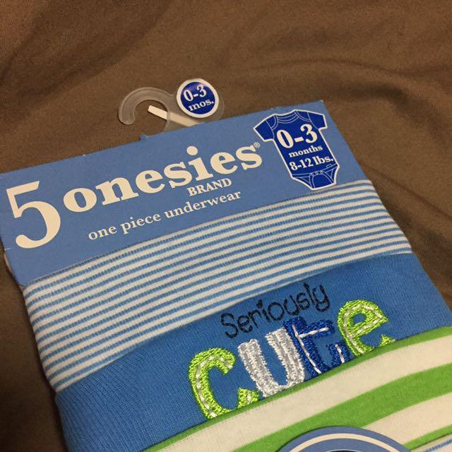 Gerber 5 Pcs Onesies (0-3mos)