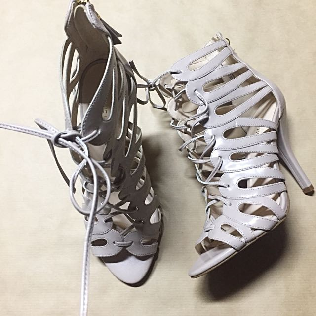 Gladiator Strappy Nude Nine West High Heels