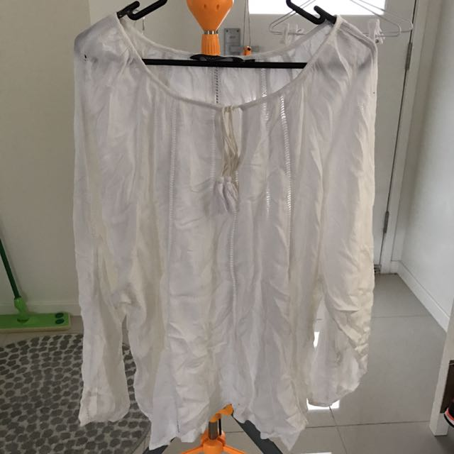 Glassons White Long Sleeve Top