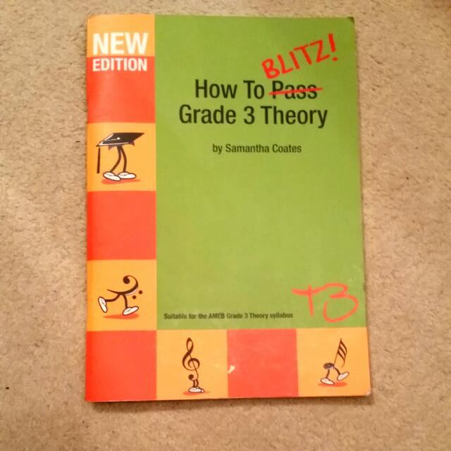 Grade 3 AMEB Theory Book How To Blitz New Edition - Samantha Coates