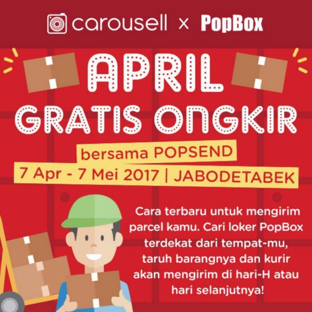 Gratis Ongkir Khusus Transaksi Dengan POPBOX