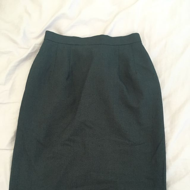Gray High Waist Pencil Skirt