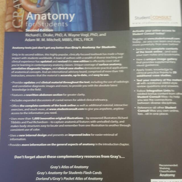 Grays Anatomy For Students Textbooks On Carousell