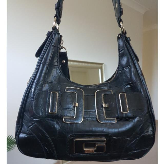 Guess Black Leather Handbag