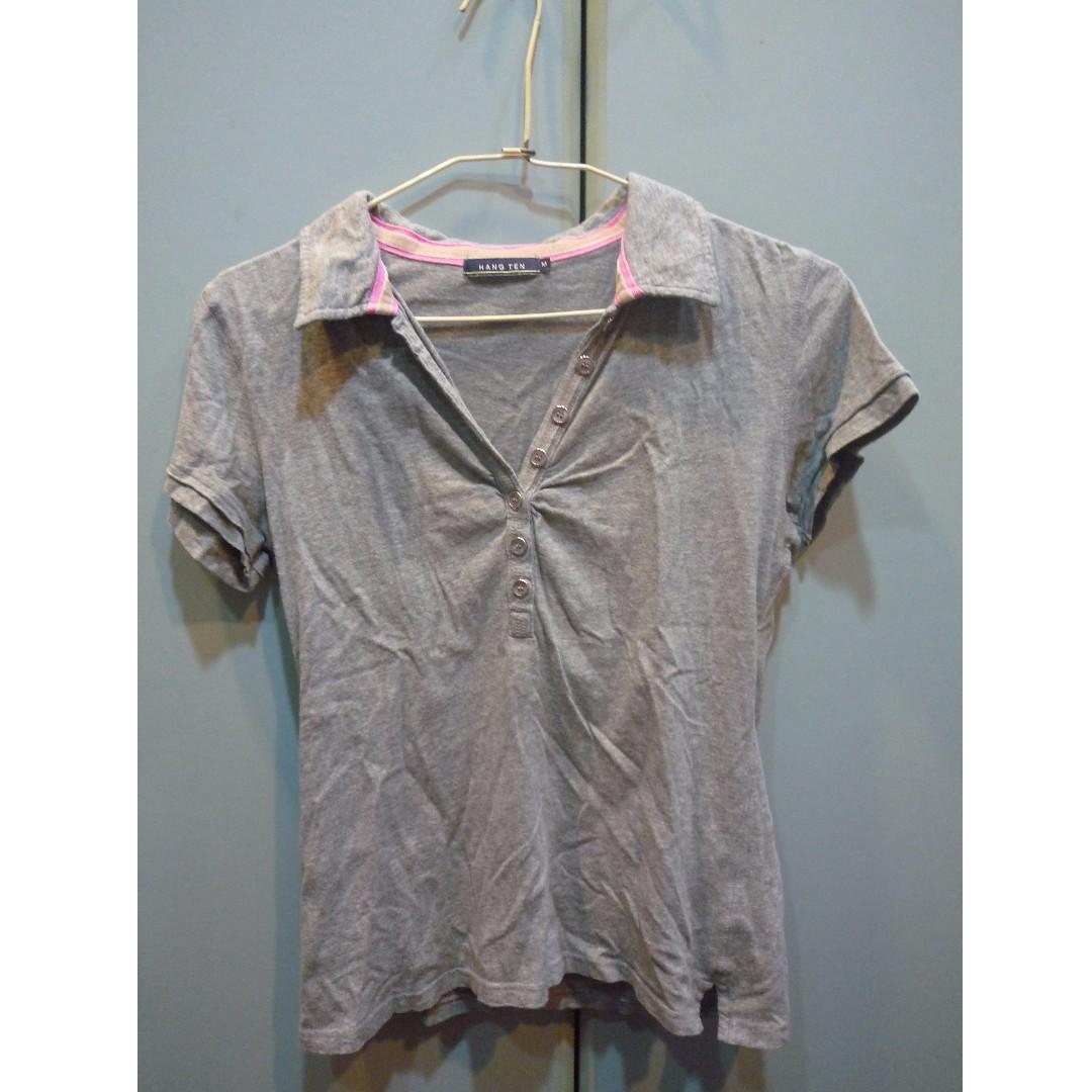 (歡迎換物)Hang Ten灰色運動短衫