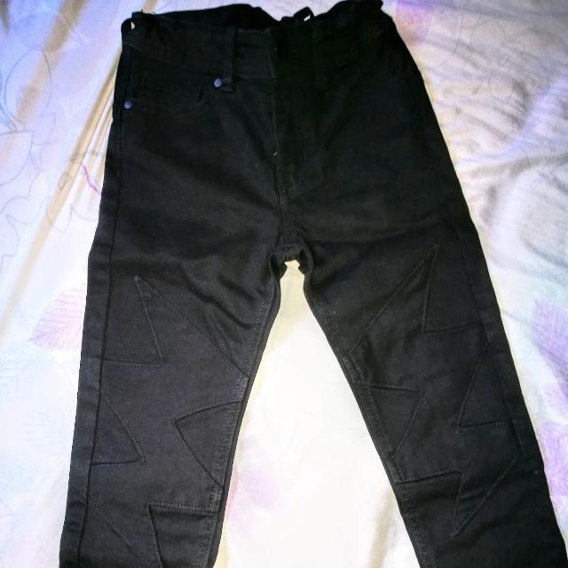 H&M Black Pants w/ lightning Design
