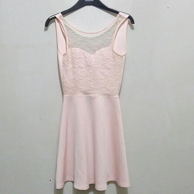 SALE HM Baby Pink Backless Dress