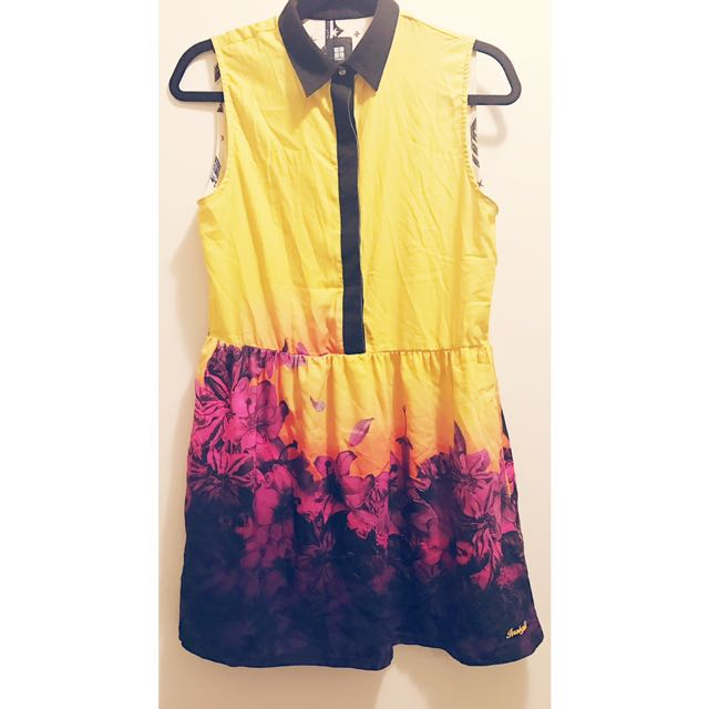 Insight Yellow & Floral Casual Dress