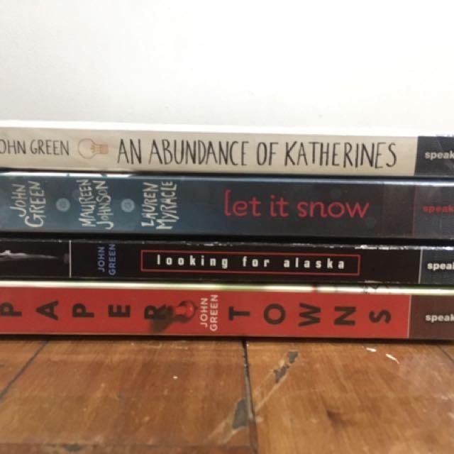 John Green Novels - 4 Books Set Or Per Piece