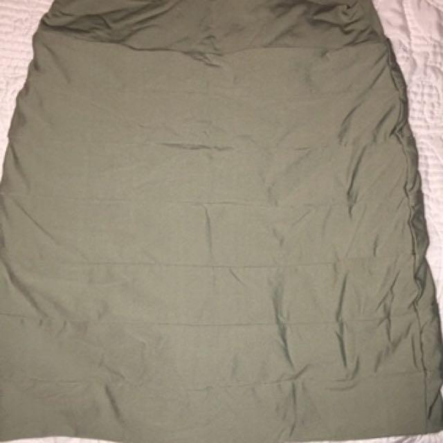 Khaki Kookai Bandage Skirt