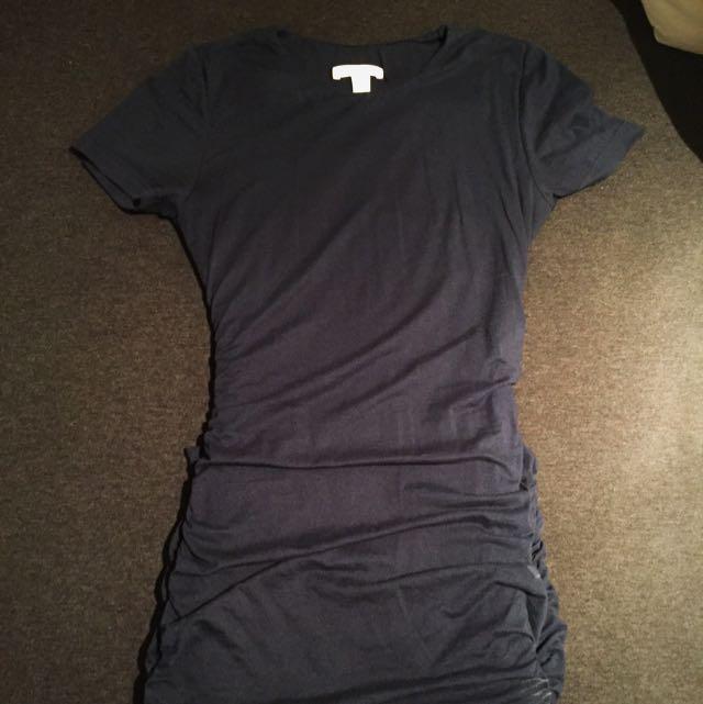 Kookai Navy Tshirt Dress 1