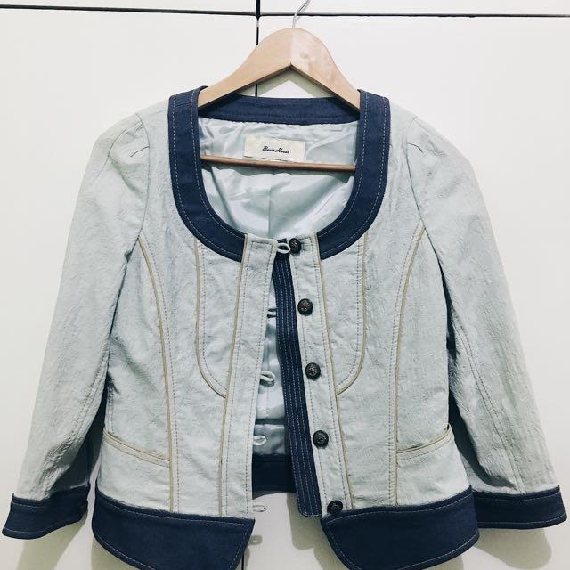 Korean Button Down Jacket (Light Shade)