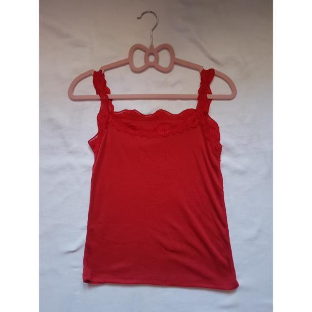 Lace Red Tank Top