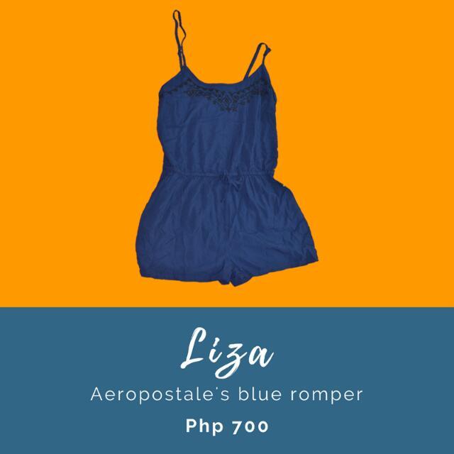 Liza: Aeropostale's blue romper