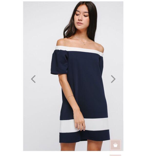 6e77fabda194 Love Bonito Enya Contrast Off Shoulder Dress