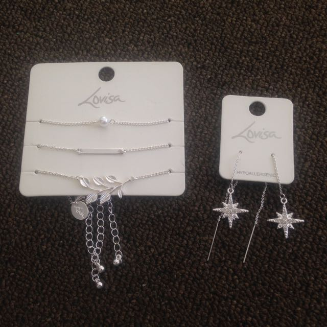 Lovisa Earrings And Bracelet Set