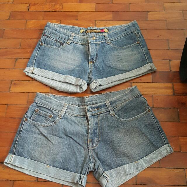 Low Waisted Denim Shorts Bundle
